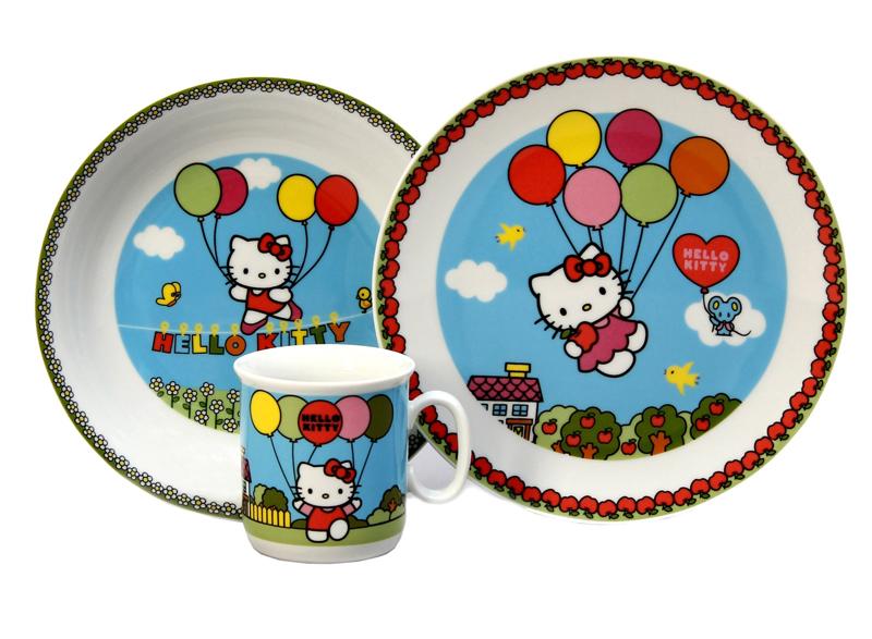 07200dfa8 Detské obedové súpravy   Detská tanierová súprava Hello Kitty modrá ...